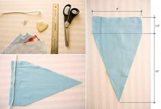 DYI: How to make pennant banners