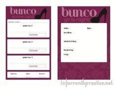 Bunco printable invitations