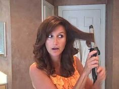 How to Use a Curling Iron to Curl your Hair    more messy/going out hair
