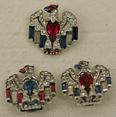 Trifari Eagles Jewelry Set ca 1940s via The Met