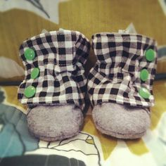 Plaid boots by Baubles and Bits