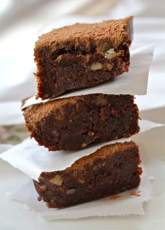 raw|vegan: tea infused chocolate brownies...