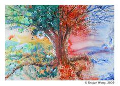 4-seasons tree painting!