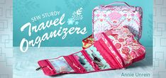 Make a DIY Travel Organizer in Craftsy's: Sew Sturdy Travel Organizers  Sad thing? I would put craft supplies in here before I would put makeup-- priorities for travel ! :)