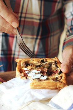 puff pastry, figs + mushrooms • london fridge