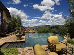 pool areas, swimming pools, rocky mountains, mountain retreats, homes