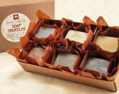#Soap #Truffles from #Sarva Soap Co. #Tea Tree Charcoal, #Purity, #Joyful, #Lavender Rosemary, #Revive, #Orange Spice. $11.50
