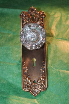 Vintage Door Knob FACEPLATES Vintage 1800's    by KimberlyHahn, $99.00