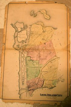 Late 19th Century Queens NYC Map (Long Island City, Hunters Point, Astoria, Ravenswood, Dutch Kills, Blissville)