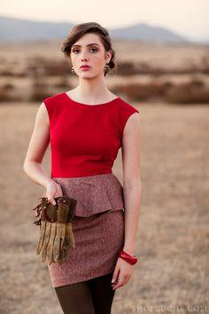 Stunning red dress. #equestrian #shopruche #ruche
