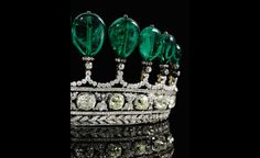 Emerald tiara circa 1900 from the collection of Princess Katharina Henckel von Donnersmarck and probably the work of Chaumet.