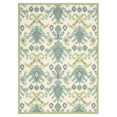 rug with exotic ikat motif
