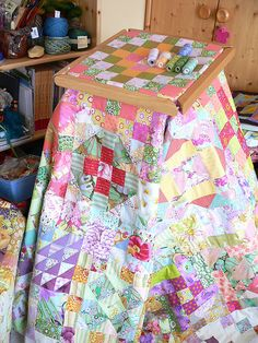 handquilting wip by qusic, via Flickr
