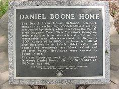 Daniel Boone Home, Defiance MO