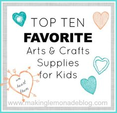 FAVORITE Kids Arts & Crafts Ideas & Supplies-- the best ideas and supplies to keep the kids occupied and creative this summer! Kid tested, mom approved. #kids #crafts
