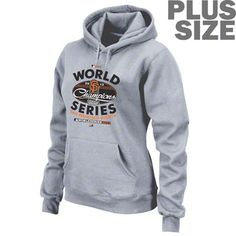 San Francisco Giants Women's Plus Size 2012 World Series Champions Clubhouse Locker Room Hooded Sweatshirt
