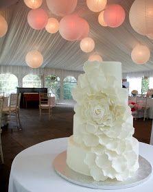A Simple Cake: Petal Wonderful White Wedding Cake