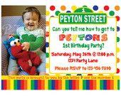 birthday parti, street birthday, custom digit, birthday invitations, birthday idea, 1st birthday, sesam street, boy birthday, 2nd birthday