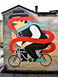 Agostino Iacurci, murales, Illustration, street art