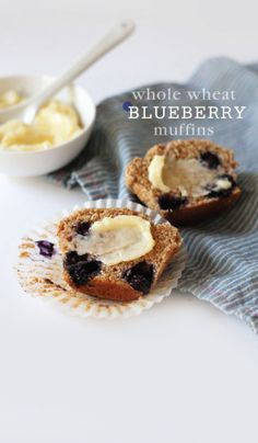 whole wheat : blueberry muffins