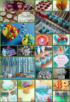 Disney Donna Kay: Disney Party Boards - Ariel (The Little Mermaid) Party Board disney parties, little mermaid birthday, birthday parties, marshmallow pops, sea party, the little mermaid, disney donna, parti idea, parti board