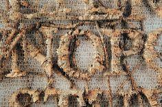 Baroque Alphabet detail, cut paper, 2010