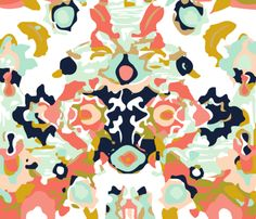 coral jubilee fabric by eivie