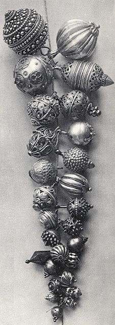 round silver buttons, typical of much of central Dalmatia, from Croatia