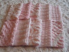 10 Vintage Chenille Squares 6 Inch - Baby Pinks. $10.00, via Etsy.