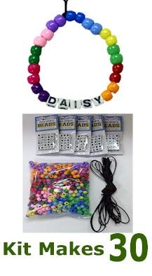 Daisy Law Bracelet Kit! Use this craft to earn the Girl Scout Daisy Violet Petal. Be a sister by making bracelets for other daisy girl scouts.