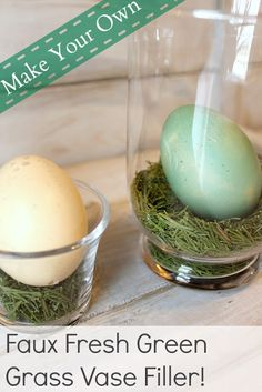 The Creek Line House: Make Your Own Faux Fresh Green Grass Vase Filler!
