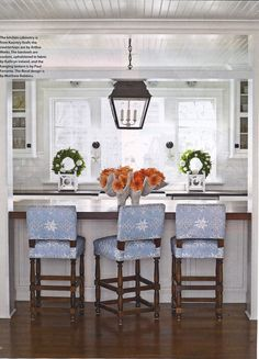 Love the stools - coastal living