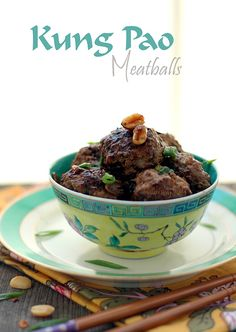 Kung Pao Meatballs - Low Carb and Gluten-Free