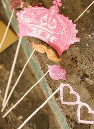 Cute girly photo booth props