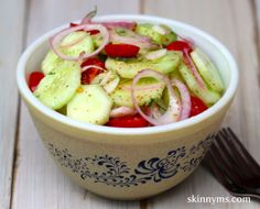Classic Cucumber  Tomato Salad - I like this dressing better (dill, balsamic, honey, dijon, EVOO)