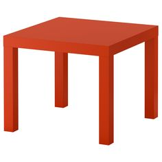 "LACK Side table - orange, 21 5/8x21 5/8 "" - IKEA"