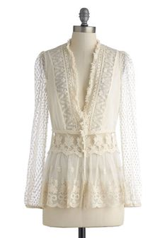 lovely lace cardigan.