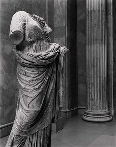 Statue of a woman, second half of 4th century B.C.  Greek  Marble  H. 68 1/8 in. (173.02 cm)  Gift of Mrs. Frederick F. Thompson, 1903 (03.12.17)