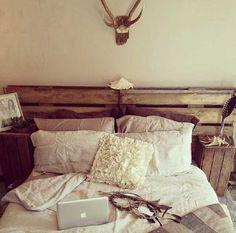 40 Unbelievably Inspiring Bedroom Design Ideas rustic bedrooms, pallet boards, pallet headboard, inspir bedroom, guest bedroom decor, pallet furniture, cottage bedrooms, old pallets, bedroom designs