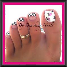 """""""Ready Set Race""""  Nail Art"""