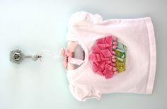 diy cupcake shirt {with scrap fabric, ribbon, and pom-pom trim} {so ...