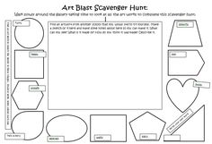 Worksheet I developed for engaging with an art work PD for use during Art Blast Children's Art Exhibition