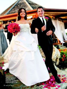 "Nick Lachey and Vanessa Minnillo's on ""Nick & Vanessa's Dream Wedding"""