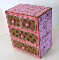 Custom Childs Name Treasure Box