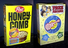 Records on cereal boxes and they really played!