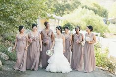 #Bridesmaids by #Joanna August | Onelove Photography | #SMP Weddings: http://www.stylemepretty.com/2013/12/04/travel-themed-wedding-at-saddlerock-ranch-from-onelove-photography/