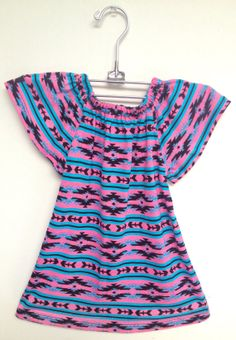 littlefour southwestern baby peasant dress by littlefourclothing, $30.00