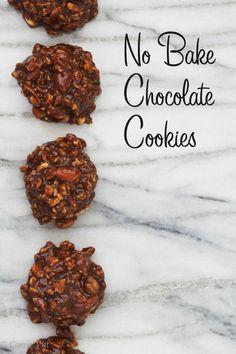 No Bake Cookies (Paleo, Grain Free, Gluten Free, Dairy Free)