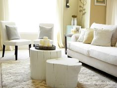 Tree stump coffee table - Thrifty and Chic