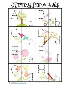 preschool activities, abc, preschool printables, prek, learn, easter printables, alphabet, spring, kid